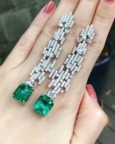 """JEWELRY MAGAZINE on Instagram: """"Exceptional Colombian Emerald Earrings by @qiuqiu_he 💚 Credit: @muzoemeralds . #earrings #emerald #colombianemerald #emeralds #gems…"""""""