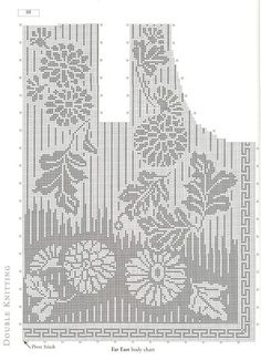 Best 12 Mobile LiveInternet Lady Boutique Series – Colección tejida a mano 2018 Filet Crochet Charts, Crochet Cross, Knitting Charts, Crochet Motif, Knitting Stitches, Knitting Designs, Knit Crochet, Knitting Patterns, Crochet Patterns