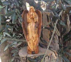 Guidian Angel Hand Sculpted From Olive wood by ellenisworkshop, $169.00