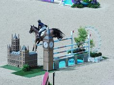 Olympic Equestrian Jumping Houses of Parliament (2) by Julie Ramsden, via Flickr