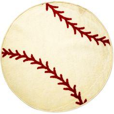 Baseball Rug from Walmart even!