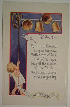 Vintage New Years Postcard | Flickr - Photo Sharing!
