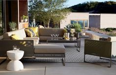 """Truly a modern """"indoor room"""" that lives outdoors, our urban style Dune collection composes the perfect outdoor retreat with sectional pieces designed to create the ultimate in lounge."""