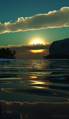 El mar en su calma!!♡