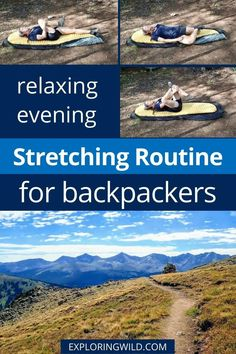 These easy stretches will help you loosen up after a long day of hiking or backpacking, even if it's cold outside and you're huddled in your tent. Do these backpacking stretches before bed to sleep better at night, and feel better and hike better in the morning. #backpackingtips