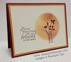 """Just Believe, 2-1/2"""" Circle punch, Stampin' Up!, stampwithbrian.com"""