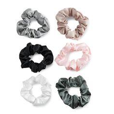 SO® Satin Scrunchie Hair Tie Set - Kohl's - Scrunchies Pigtail Hairstyles, Bobby Pin Hairstyles, Scarf Hairstyles, Braided Hairstyles, Scrunchies, Boho Hippie, Hair Scarf Styles, Curly Girl Method, Twist Headband
