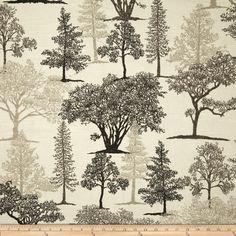 Richloom Treeline Graphite Fabric By The Yard