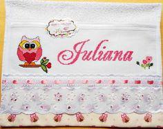 Toalha de Mão-Corujinha 1-Ref. 069