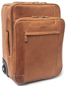 Cortez Colombian Leather Executive Laptop Cabin Trolley, Removable ... - prada trolley burgundy