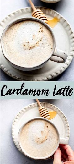 This Cardamom Latte with Honey is deliciously creamy and fragrant with a hint of sweetness from a swirl of honey. Its the perfect warm beverage to start your day with. A Food, Good Food, Yummy Food, Honey Recipes, Snack Recipes, Stevia Desserts, Latte Recipe, Vanilla Flavoring, Yummy Eats