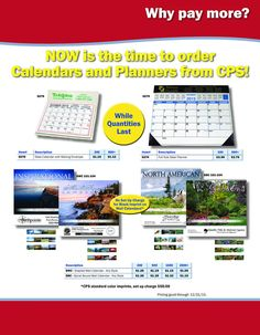 Don't Pay More for Calendars and Planners!