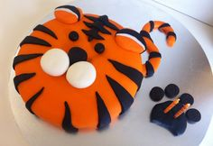 Tiger Cake for my nephew's 3rd Birthday