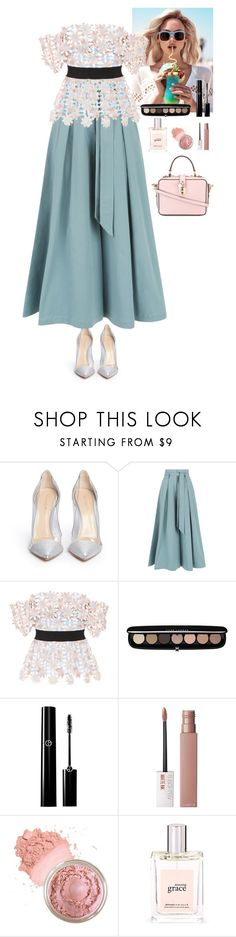 """""""Outfit"""" by eliza-redkina ❤ liked on Polyvore featuring Gianvito Rossi, Temperley London, Wildfox, self-portrait, Marc Jacobs, Maybelline, philosophy, Dolce&Gabbana, outfit and like"""