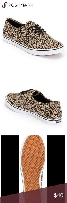 Vans leopard print authentic canvas sneaker size 6 Brand:Vans  Vans product line:Vans Authentic Style:Sneaker, Active Active shoe   Sneakers by Vans, Unisex design, For you and for them, Leopard print, Lace-up fastening, Vans logo, Padded for comfort, Chunky sole, Signature waffle tread. Brand new display shoes no box size women's six vans Shoes Sneakers