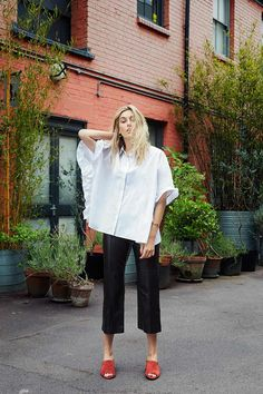 Poplin blouse in Camille Charriere at Vogue #dorasicart