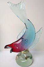 Extremely Large Murano Art Glass  Alfredo Barbini Fish Import From Weil Ceramics  $395