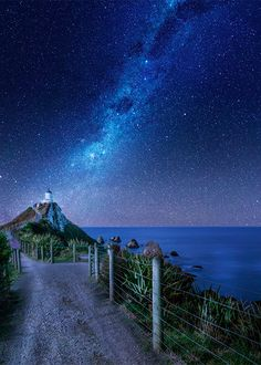 Catlins Lighthouse, Nugget Point, Southland, New Zealand.