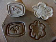 Two 2 Handmade Texture Stamps for Ceramic by panthercreekceramics, $12.00