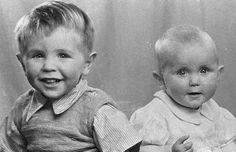 """Stephen Hawking (left) and his sister Mary.            Imagine his mother thinking:  """"My son will grow up to be a great theoretical physicist!""""  ....and then he did grow up, to be just that!"""