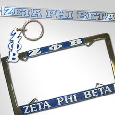 This special package is exclusively for Zeta Phi Beta and includes everything you need for your car! (1) Zeta Phi Beta License plate (1) Zeta Phi Beta letter keychain (1) Zeta Phi Beta car decal. Rush