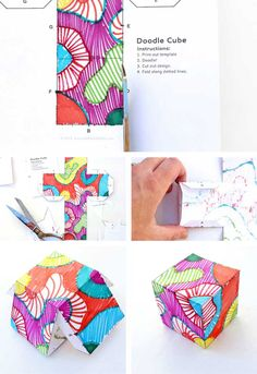 Doodle Cubes Art Activity for Kids ~ I know it's a kid's craft but I'm thinking to make Zenn doodle blocks!