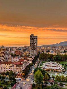 Albania: Tirana is the capital and the largest city in with a population of approx Albania Beach, Albania Travel, Visit Albania, Cool Places To Visit, Places To Travel, Travel Destinations, World Cities, Countries Of The World, Montenegro