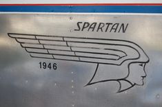 #Vintage Spartan Logo on 1946 Spartan Manor Travel Trailer. Lots of great Spartans on this sight. Exteriors