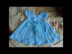 Vestido de niña Foto paso a paso tejidos - YouTube