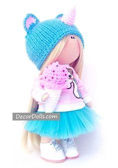 Unicorn Doll Handmade for Nursery Decoration, Unique and Original Gift – Decor Dolls