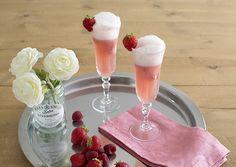 Raspberry icecream and champagne float - Float de champagne con helado de frambuesa