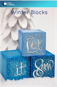 This cute craft idea really stacks up!! Paint Simply Art Wood Blocks with your favorite Holiday sentiment for a shelf sitter that is one of a kind.