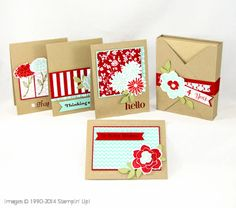 Simple Stems Card Set Tutorial available at StampUpaStorm.com plus 50 more tutorials as well