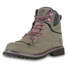 "KING'S 6"" Leather Steel Toe Women's Work Boots with Welt ..."