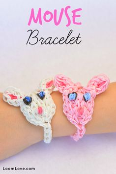 How to Make a Rainbow Loom Mouse Bracelet #rainbowloom