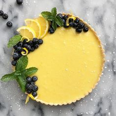 I could go for a slice or two of this right now. 🍋 The recipe for this lemon. Just Desserts, Delicious Desserts, Yummy Food, Fancy Desserts, Lemon Desserts, Tart Recipes, Dessert Recipes, Cooking Recipes, Buzzfeed Tasty