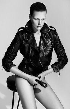 Bekah Jenkins is Sleek and Sensual in Black for Bambi Magazine by Malina Corpadean