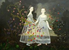 ⊰ Posing with Posies ⊱ paintings of women and flowers -
