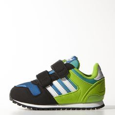 adidas ZX 700 CF I Infant Kids Shoes Black/White/Green/Blue M25250 (SIZE: 8K)