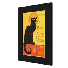 tournee du chat noir | Tournée du Chat Noir, Steinlen Black Cat Vintage Gallery Wrapped ...