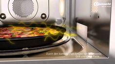 Bauknecht - Crisp™-Funktion - In der Mikrowelle knusprig backen #DanKuchen #Bauknecht Grill Pan, Crisp, Grilling, Ab Sofort, Videos, Rezepte, Laundry Rooms, Griddle Pan, Crickets