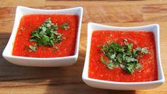 Kald suppe med krydderurtdryss