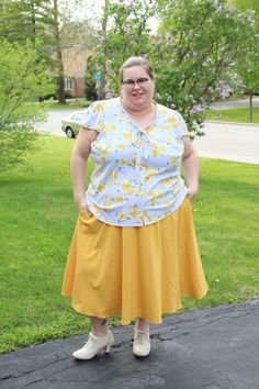 #floral #brights #yellow #tiefrontblouse #laceupheel #work