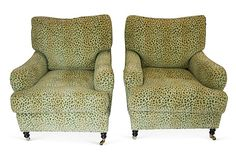 Katie Rosenfeld's Sale on OKL Upholstered George Smith Chairs, Pair on OneKingsLane.com