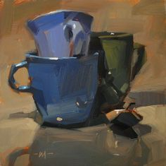 "Carol Marine's Painting a Day: ""Casual Stack"" - SOLD"