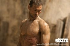 I was so sad the day he lost his battle w/ cancer...fitting that it was September 11, 2011.  I absolutely love him.  RIP Spartacus.  (Andy Whitfield)