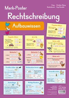 Merk-Poster - Rechtschreibung – Aufbauwissen ++ #Poster für den Klassenraum, Fach: #Deutsch, #DaZ, Klasse 3 und 4 ++ Dekorative Poster mit den wichtigsten Rechtschreib-Regeln + Zur Erarbeitung oder als Gedächtnisstütze + Einfache Regeln, Nachdenkwörter, Merkwörter, Rechtschreib-Strategien + Sinnvolle Ergänzung zu den übrigen Merk-Postern #Grundschule