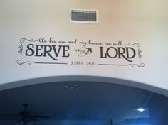 Wall scripture designed on my cricut with adhesive vinyl.