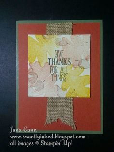 For all Things. Stampin' Up! by Sweetly Inked