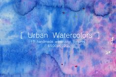 Urban Watercolors by TheUrbanLine on @creativemarket